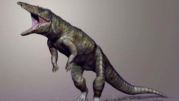Древний прото-крокодил Carnufex carolinensis, первая альфа-рептилия Америки